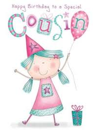 female cousin traditional birthday card 10 x cards to choose