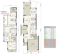 multi family house plans narrow lot
