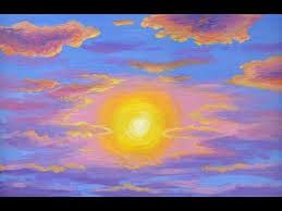 how to paint a bright sun at sunset painting lesson acrylics