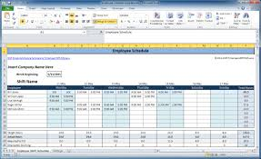 How To Use Excel Spreadsheet Free Employee And Shift Schedule Templates