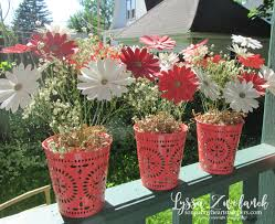 Daisy Centerpiece Ideas by Daisy Punch Bouquet Tin Pail Bucket Punches Floral Stem Wire Diy