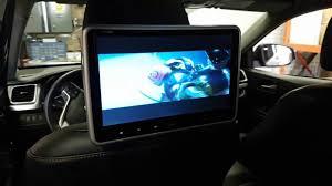 toyota highlander dvd headrest 2x10 car dvd player piggyback headrest installation in 2015