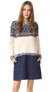 fair isle sweater dress clu clu fair isle sweater dress shopbop