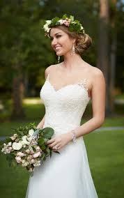 plus size illusion lace french tulle wedding dress stella york