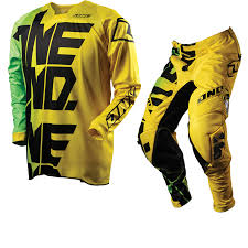 motocross pants and jersey combo one industries 2012 defcon ripper yellow mx motocross jersey pants