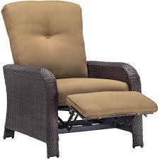 Wicker Lounge Chair Hampton Bay Park Meadows Brown Stationary Wicker Outdoor Lounge