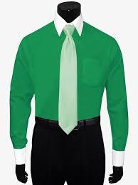 white collar white cuffs forest green dress shirt by berlioni
