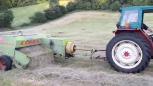 hay baling with claas constant and international 454 youtube