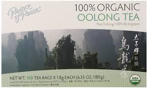 amazon tea amazon com prince of peace organic tea oolong 100 tea bags
