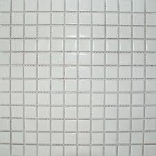 gloss white square small tile description a smooth white mosaic