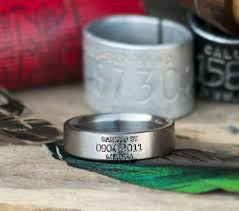 duck band wedding rings custom engraved duck band wedding ring available in silver