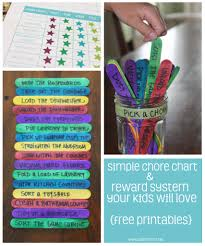 simple chore and reward system your kids will love free