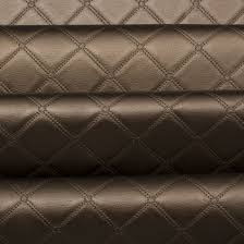Diamond Upholstery Luxury Bentley Stitch Diamond Embossed Faux Leather Upholstery