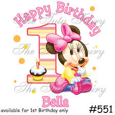 Minnie Invitation Card Baby Minnie Mouse 1st Birthday Personalized Invitations