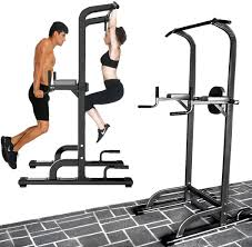 power tower pull push chin up dip bar fitness station