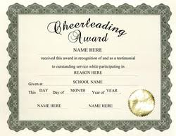 8 best images of cheerleading award certificate template free