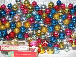 vintage ornaments mercury glass balls shiny brite
