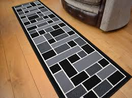 Black White Runner Rug Rug Runners For Cozy Interior