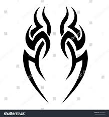 tribal tattoo art designs sketched simple stock vector 706325860