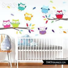 stickers jungle chambre bébé sticker muraux chambre bacbac sticker enfant chouette sur une
