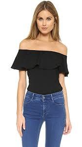 shoulder tops susana monaco ruffle shoulder top shopbop