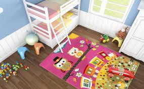 tapis pour chambre bébé tapis creme pour chambre enfant hibou pas cher