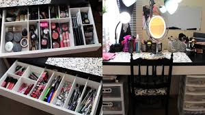 makeup collection storage u0026 vanity tour 2013 youtube