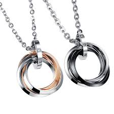 necklace charm ring images 3 ring necklace jpg