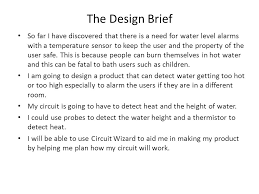 design brief a level d t electronics and control systems ppt video online download