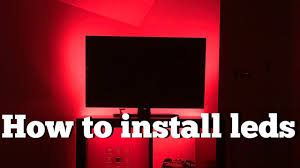 Install Led Light Strip by How To Install Led Light Strips Youtube
