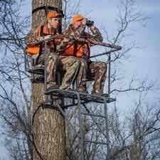 Ameristep Tree Stand Blind Ameristep Ladder Tree Stand 15 Feet Two Man Steel 2 Seat Deer