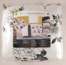 Mainstay Comforter Sets Mainstays Black And White Floral Bed In A Bag Comforter Set