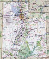 Interstate Map Of The United States by Large Detailed Roads And Highways Map Of Utah State With All