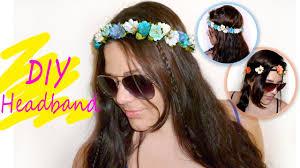 flower headbands diy easy floral crown headband tutorial