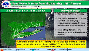 New York Weather Map by Nyc Weather Forecast Flood Watch Ahead Of U0027heavy U0027 Rain