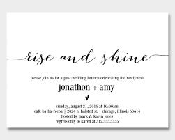 after wedding brunch invitation newlywed brunch invitation printable modernsoiree