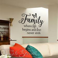 Family Room Decals Family Quotes The Simple Stencil - Family room quotes