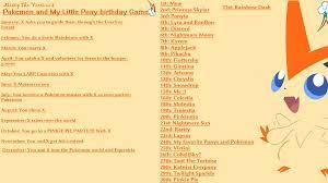Pokemon Birthday Meme - my little pokemon birthday game by mistythevictini on deviantart