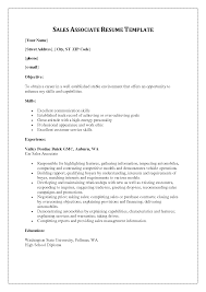 Cosmetic Resume Examples by Resume Template For Retail Associate Templates