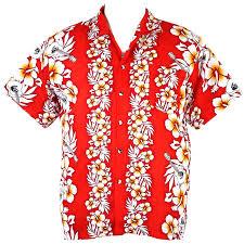 hawaiian aloha shirt hibiscus and guita isle xl