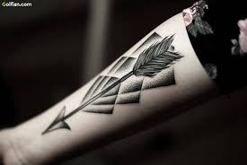 brilliant arrow men tattoo design made by expert golfian com