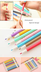 special pencils for drawing 12 pcs lot knock type color pencils for drawing mechanical