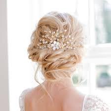 wedding headpiece swarovski pearl gold wedding headpiece hair comb