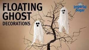 how to make floating ghost decorations youtube