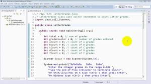 lettergrades class that uses the switch statement to count letter