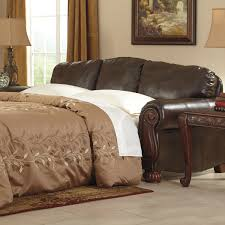 Sofa Beds With Memory Foam Mattress by Queen Faux Leather Sofa Sleeper Sleeper A Memory Foam Mattress