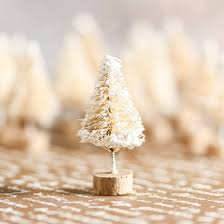 bulk frosted white sisal trees miniatures