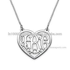 monogrammed necklace cheap monogram necklace monogram necklace silver 3 initials name
