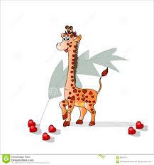 s day giraffe giraffe in the hearts for s day vector decorative