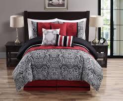 Black Comforter King Size Red And Black King Size Comforter Sets 7pcs Burgundy Brown Black